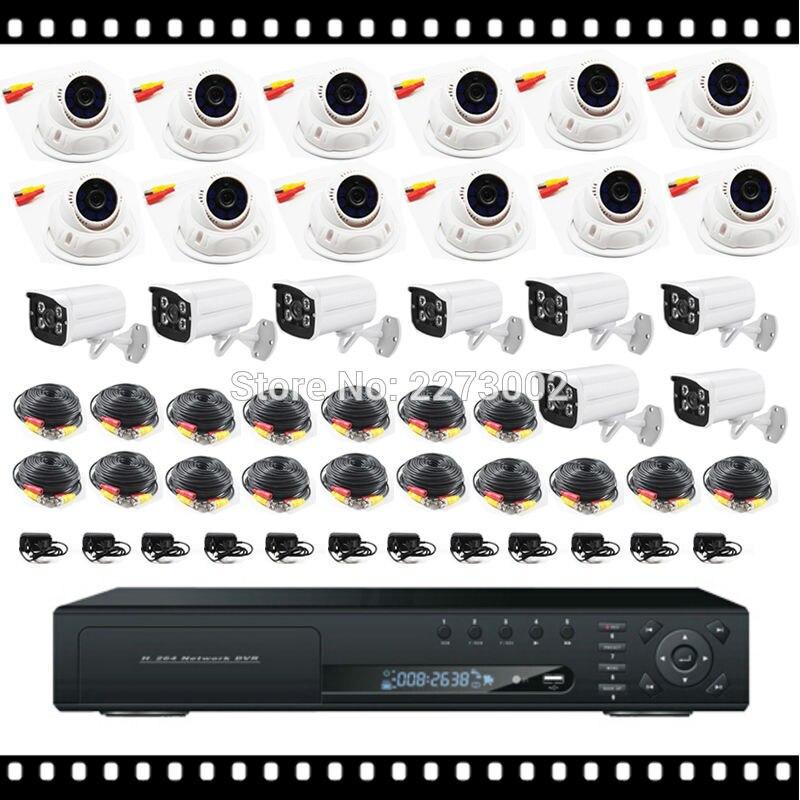 HKES 2017 New Video Surveillance System with ahd dvr 24ch and 24pcs AHD Camera 2mp 1080p 960p 720p накладки на пороги mitsubishi pajero sport ii 2008 carbon
