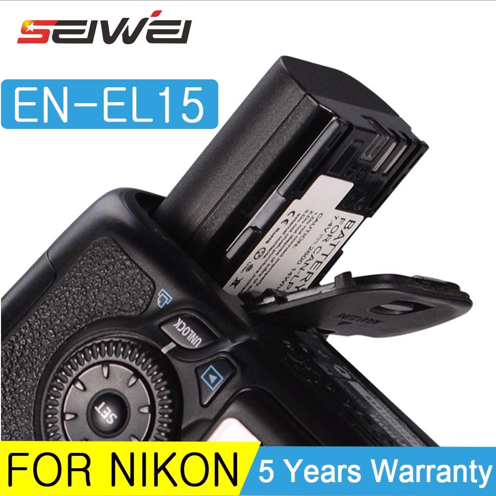 Para batería Nikon EN-EL15 batería EN EL15 D7000 D810 ENEL15 EL15A batería para cámara digital + cargador USB con LCD para Nikon D600 D610