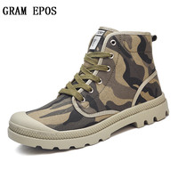 GRAM EPOS 36 47 High Quality Men Canvas Shoes 2017 Fashion High Top Men S Casual