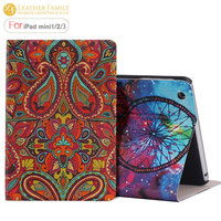 2015 New Fasion Nation Ultra Thin Flip Stand Book Leather Smart Cover For Apple Ipad Mini