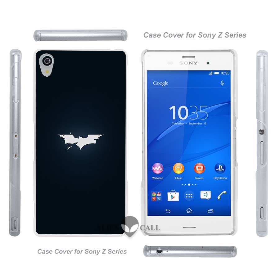 ab55 batman logo <font><b>dark</b></font> <font><b>shattered</b></font> Hard Clear Case Cover for Sony Xperia Z2 Z3 Dual Z3+ Z4 Z5 Compact Premium