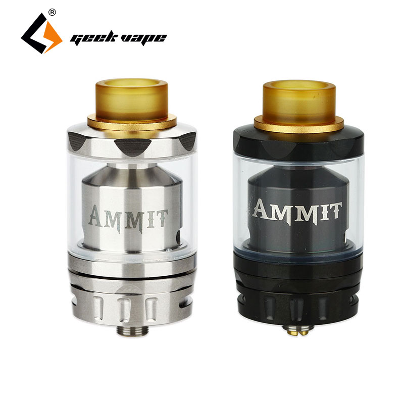 Original Geekvape Ammit RTA Tank 6ml/3ml Dual Coil Version Atomzier E-cig Rebuildable RDTA Atomizer Top Filling Vape Tank Ammit original wotofo serpent rdta rta tank 2 5ml capacity top filling rebuildable tank atomizer clamped build deck e cig rdta atomize