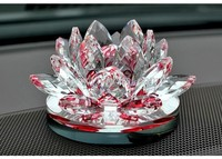 Crystal Lotus flower Candleholder Wedding Gifts for Home Decorate with Gift Box