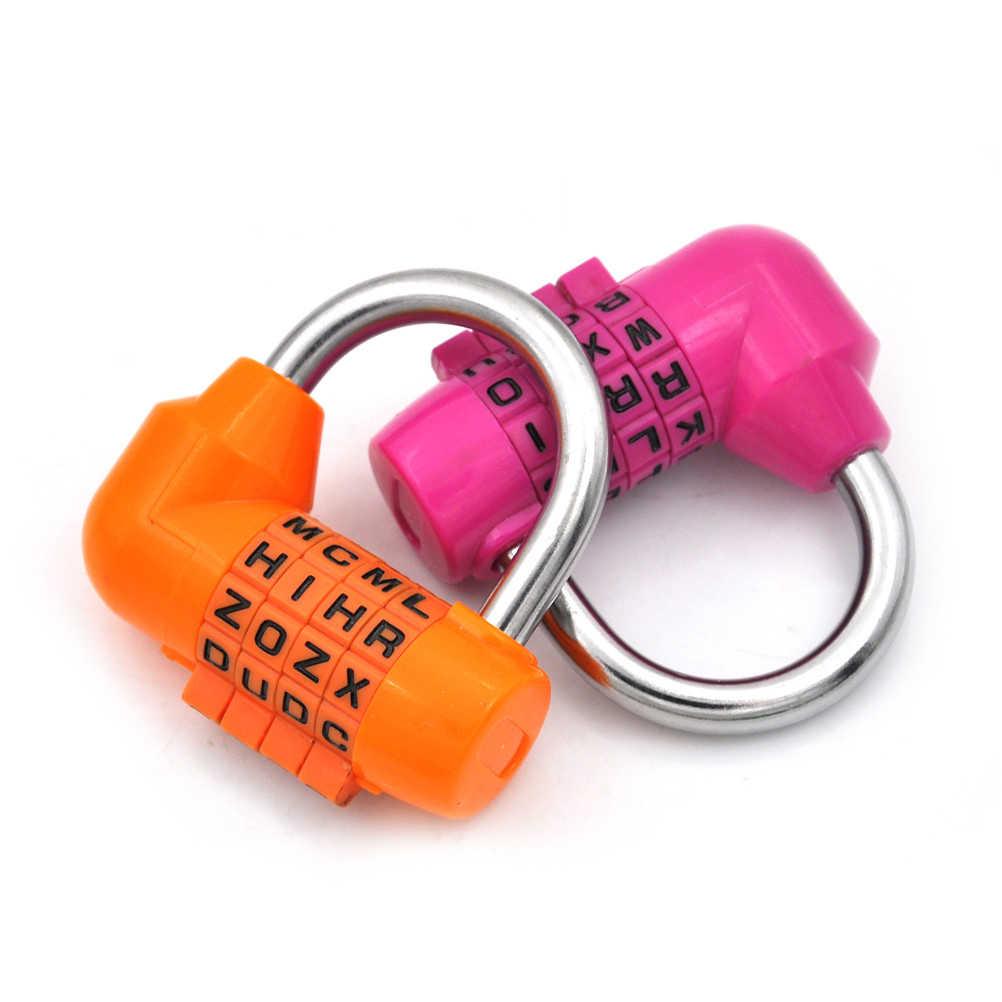 3/4 Cifre Password di Blocco Combinazione In Lega di Zinco di Sicurezza di Blocco Valigia Dei Bagagli Con Codice di Blocco Armadio Cabinet Locker Lucchetto