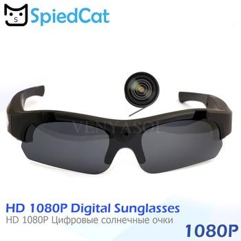 Chat espionné FULL HD 1080 P polarisé Mini caméra lunettes de soleil numérique enregistreur vidéo lunettes Sport caméscope secret extérieur caméra noire