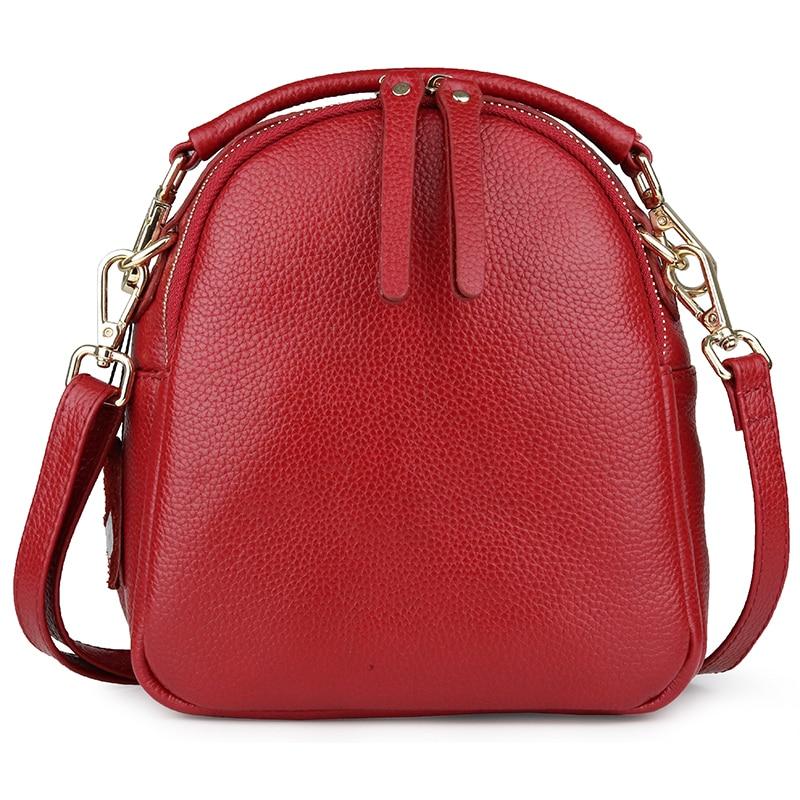 Women\\'S Leather Totes European And American Large Capacity Ladies Handbags Hot Cowhide Cross-Body Bags