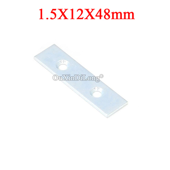 NEW 200PCS Metal Straight Flat Corner Braces Furniture Connecting Fittings Frame Board Support Brackets Repair Parts 1.5X12X48mm