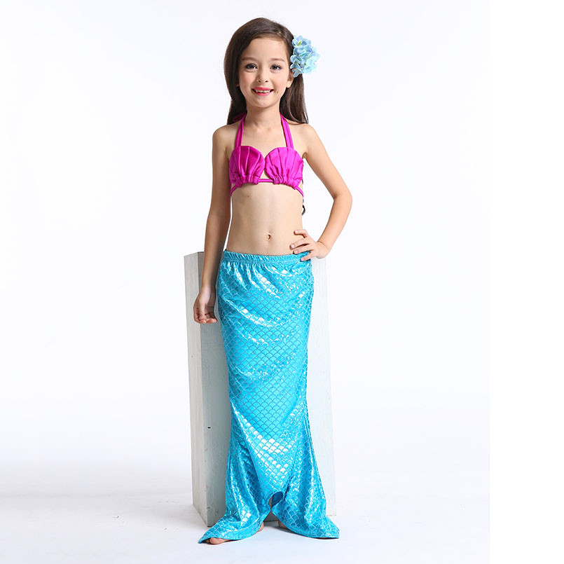 Mermaid Tail Swimming wear-blue rose 5