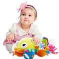 SHILOH SHILOH Soft Plush Stuffed 4  Sea Animals Family Model Toy Infants Baby Hand Toy Rattles High-Class Boy Girl Gift