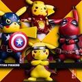 Pikachu Cosplay Deadpool Captain America Iron Man Super Mario Batman Kakashi Dragon Ball Flash PVC Figure Model Toy