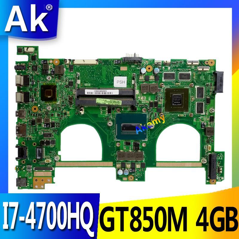 AK I7-4700HQ GTX850M 4 GO N550JK carte mère D'ordinateur Portable pour ASUS N550J N550JK N550JV Q550JV carte mère N550JX Carte Mère