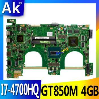 AK I7-4700HQ GTX850M 4GB N550JK placa base de Computadora Portátil para For Asus N550J N550JK N550JV Q550JV placa base N550JX placa base