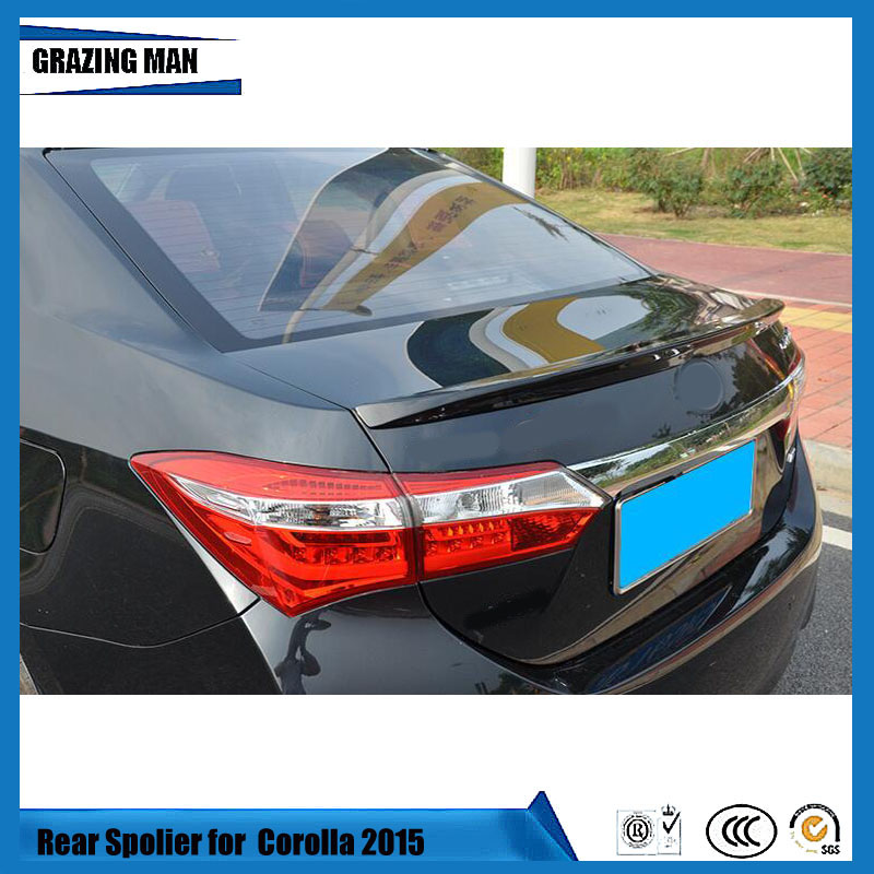 ABS material Flying Wing ModificationTail rear Spoilers Wings for COROLLA 2014 2017|Spoilers & Wings| |  - title=