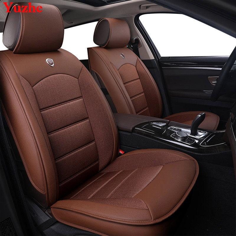 Yuzhe Auto automobiles Leather car seat cover For Skoda Rapid Fabia Superb Octavia a5 Yeti kodiaq car accessories car styling kkysyelva universal leather car seat cover set for toyota skoda auto driver seat cushion interior accessories
