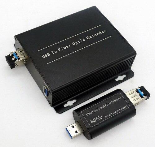 USB Optical Fiber Extender USB3.0 Optical Terminal Data Optical Fiber Conveyor Single and Double Fiber LC Port