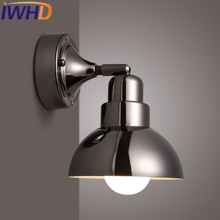 IWHD Iron LED Wall Light Modern Brief Bedroom Beside Wall Lamps Stairway Lighting Fixtures Fashion Glass Sconce Beside Arandela yin qi shi man winter outdoor shoes hiking camping trip high top hiking boots cow leather durable female plush warm outdoor boot