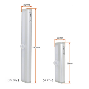 Image 4 - Wireless LED Under Cabinet Light PIR Motion Sensor Lamp 6/10 LEDs for Wardrobe Cupboard Closet Kitchen Lighting Led Night Light