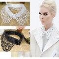 Мода новый поддельные накладные воротник для женщин старинные кружева v-образным вырезом питер пэн съемный воротниками одежда аксессуары