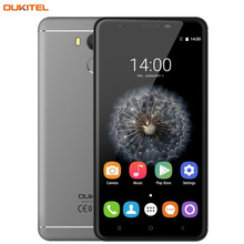 "OUKITEL U15 Pro 32GB/3GB Fingerprint Identification 5.5"" 2.5D Curved Android 6.0 MTK6753 Octa Core up to 1.3GHz Cell Phones"