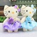 Nuevo llega H-12cm bonito Mini muñeca Hello kitty juguetes de peluche, ramo de la historieta muñeca Regalos de La Promoción 12 unids/lote 5 color envío gratis