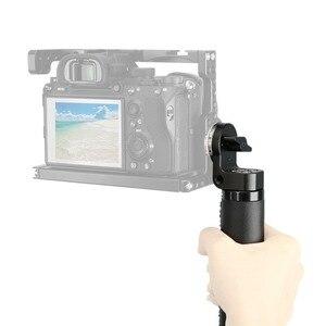 Image 5 - NICEYRIG Deri Kolu Kavrama Omuz Rig ARRI Kolu ARRI Rozet DSLR Video Kamera için Kamera Eylem Dengeleyici
