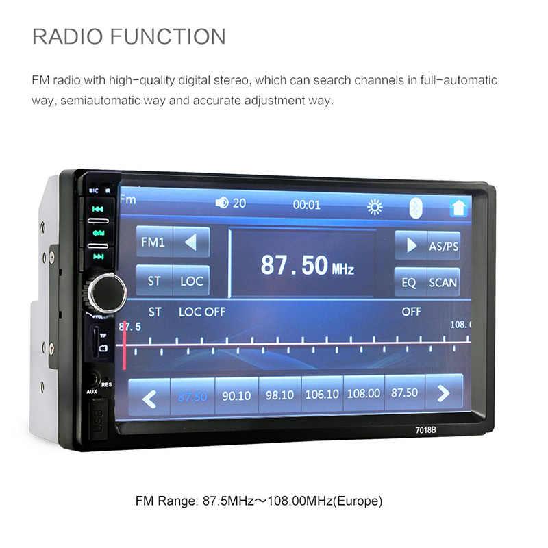 Камера заднего вида Bluetooth Центральная Multimidia 2Din 2 Din 7 ''Сенсорное радио MP5 музыкальный видео плеер Автомобильный мультимедийный Зеркало Ссылка Авторадио