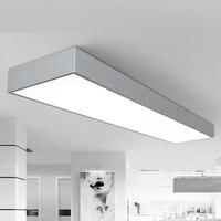 Потолочные светильники Светодиодный черный и белый пепел три офисные потолочный office рынка освещения комнаты studio лампы освещения потолка BG9
