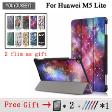 Painted Case For MediaPad M5 lite 10 Tablet Protective Stand cover for huawei BAH2-W19 BAH2-L09 BAH2-W09+ 2 screen flim new printed pu leather magnetic smart stand case for huawei mediapad m5 8 4 sht al09 sht w09 tablet protective cover film stylus