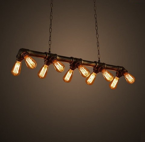 Edison Loft Style Vintage Pendant Light Fixtures Industrial Metal Water  Pipe Hanging Lamp Luminaire Lamparas Colgantes