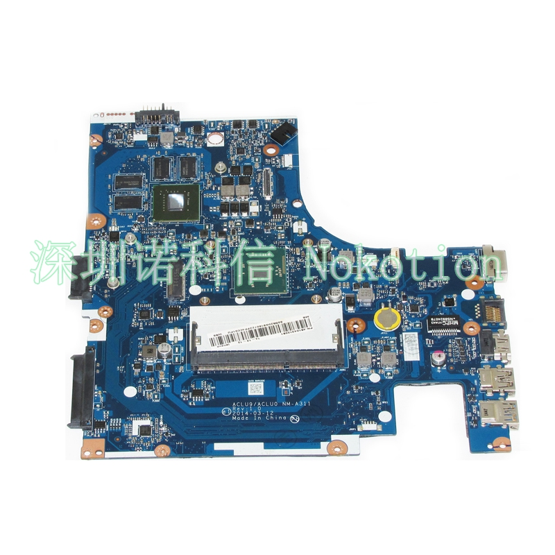 NOKOTION NM-A311 Notebook PC Motherboard For Lenovo G40 G40-30 Main Board 14 Inch N2840 2.16GHZ CPU DDR3 820M Discrete Graphics nokotion sps v000198120 for toshiba satellite a500 a505 motherboard intel gm45 ddr2 6050a2323101 mb a01