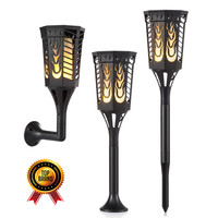IP65 LED Lights Solar Dancing Flames Lamp Flickering Torches Lantern for Outdoor Wedding Garden Patio Pool Party Decoration
