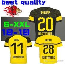 d631e84759c Thailand quality BVB Borussia Dortmund Soccer Jersey 2019 GUNDOGAN  YARMOLENKO M.GOTZE REUS PULISIC Batshuayi
