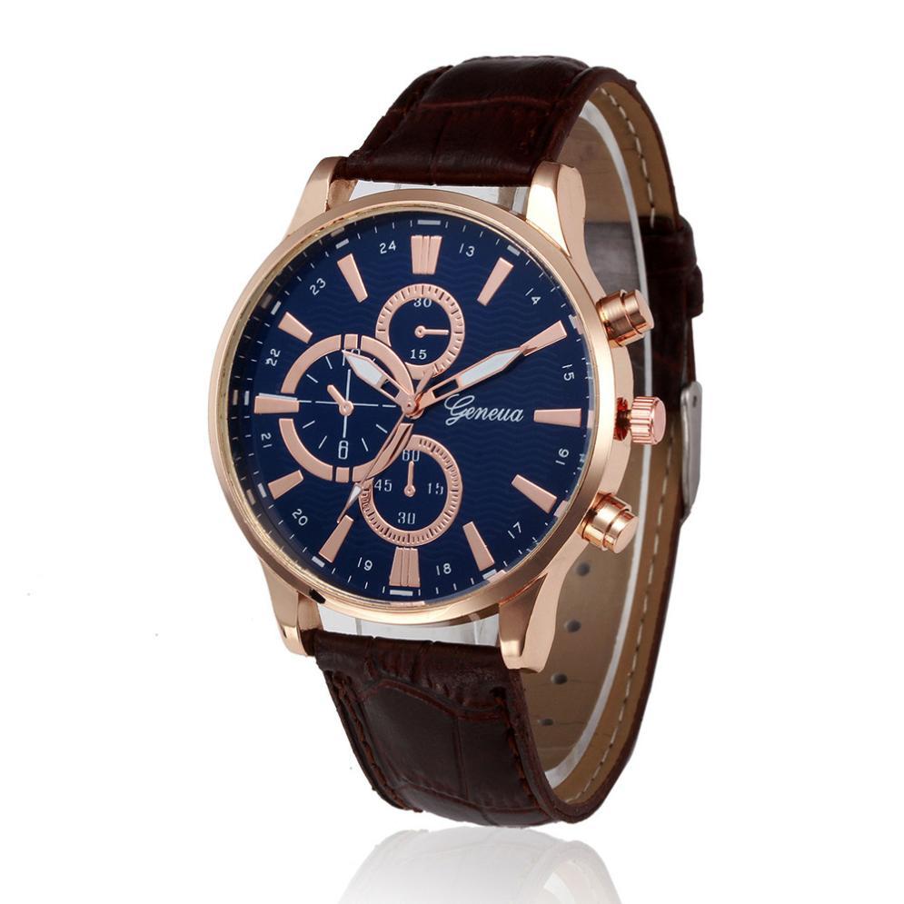 Men Watches 2019 Retro Design Leather Band Analog Alloy Quartz Male WristWatch New Fashion Luxury Hand Clock Horloges Mannen A70