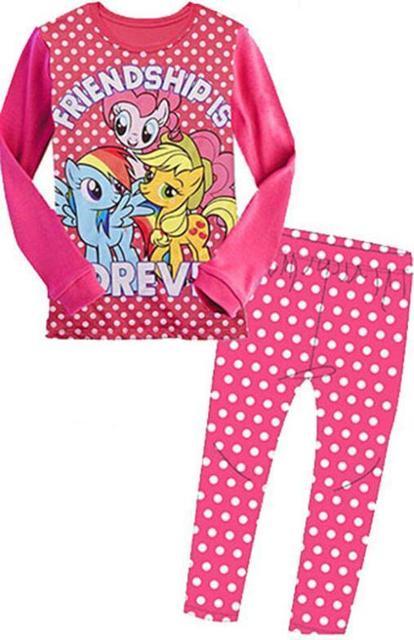 46a48d2614 Wholesales 5Sets lot Little Girls Spring Autumn Homewear My Little Pony Sleepwear  Pajamas Fit 3