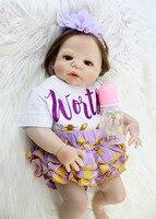 NPKCOLLECTION 22 Full Silicone Newborn Dolls Girl Bebe Alive 55cm Realistic Reborn Babies Lovely Waterproof Body Bathe Toys
