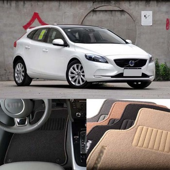 5PCS Premium Auto Fabric Nylon Anti-slip Floor Mats Carpet For Volvo V40 2013-2020