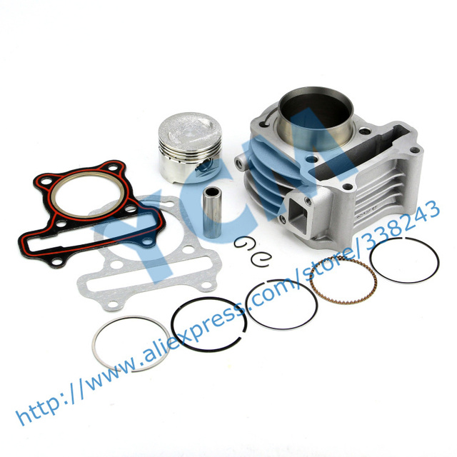 Cylinder Kit for GY6 100cc Scooter Engine 50mm with Piston Kit Moped 4 stroke 1P39QMB Wholesale Scooter Parts YCM