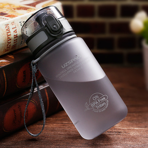 Image 5 - UZSPACE 350ml Spor Su Şişesi Çocuk Güzel Çevre Dostu Plastik Sızdırmaz Yüksek Kaliteli Tur Taşınabilir benim içme şişesi BPA Ücretsiz