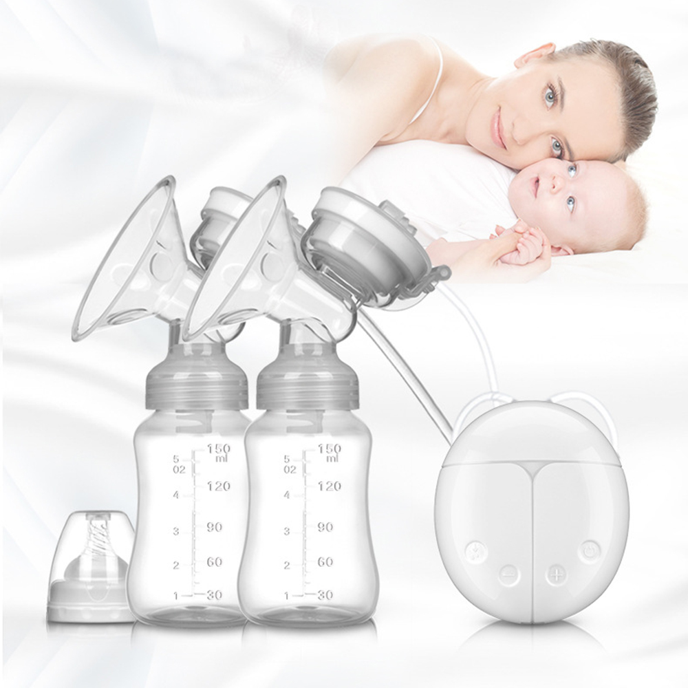 dual electric breast pumps adjustable suction silicone bra breast pump baby nipple suction baby feeding milk bottle breast pump
