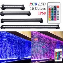 Пульт дистанционного управления Управление RGB светодиодный аквариум светодиодный аквариумный светильник ing 16 см/26 см/31 см/46 см 5050 RGB Водонепроницаемый светодиодный лампы аквариума светильник D30