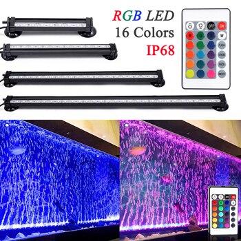 Пульт дистанционного управления RGB LED аквариумное светодиодное освещение для аквариума 16 см/26 см/31 см/46 см 5050 RGB Водонепроницаемая светодиод...