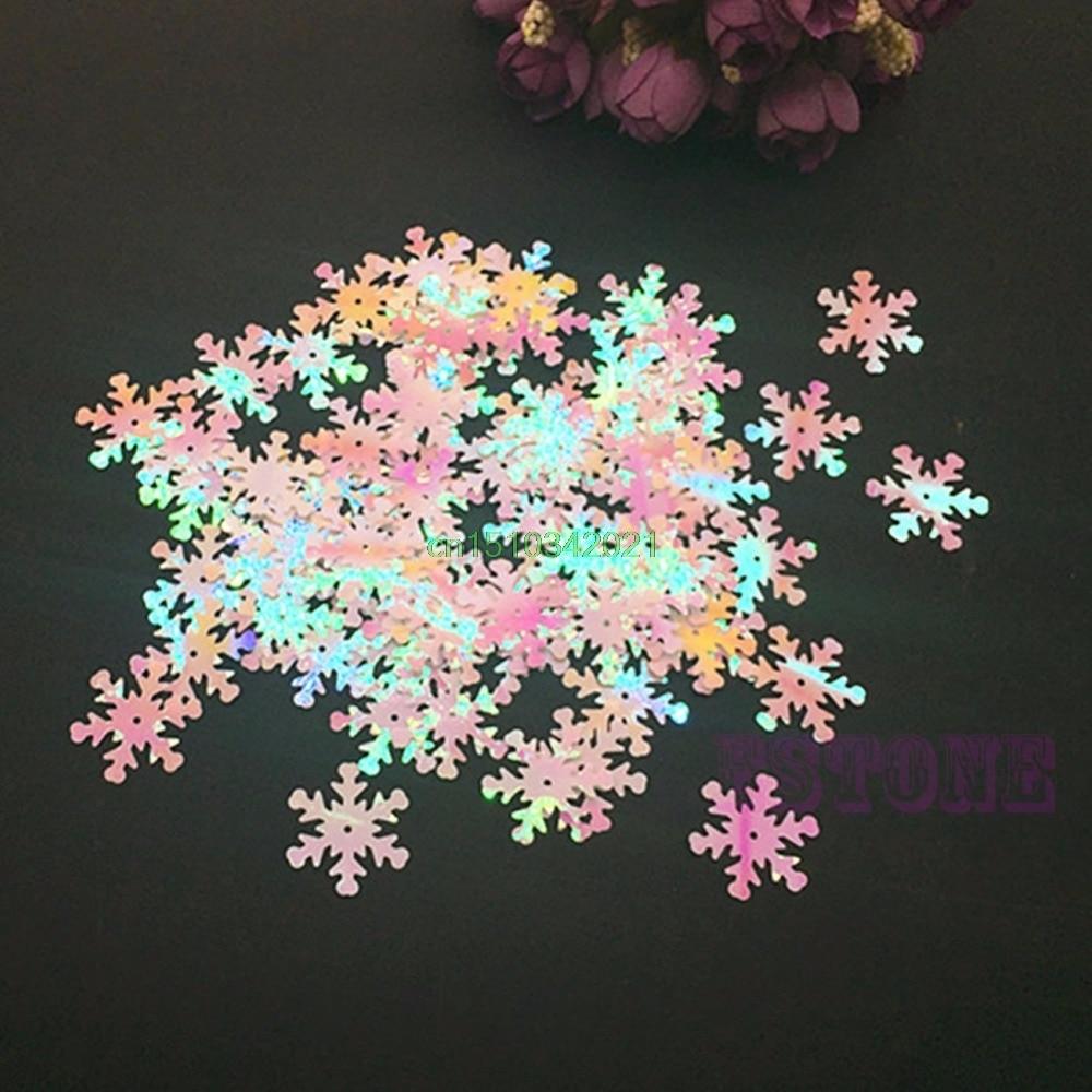 100db karácsonyi hópehely irizáló fagyasztott hópehely konfetti pálcika kártya lapolvasás