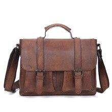 цена на 2019 New Vintage Genuine Leather Messenger Bag men Cow Leather Shoulder Bag Men Crossbody Bags Male Sling Leisure Tote Handbag