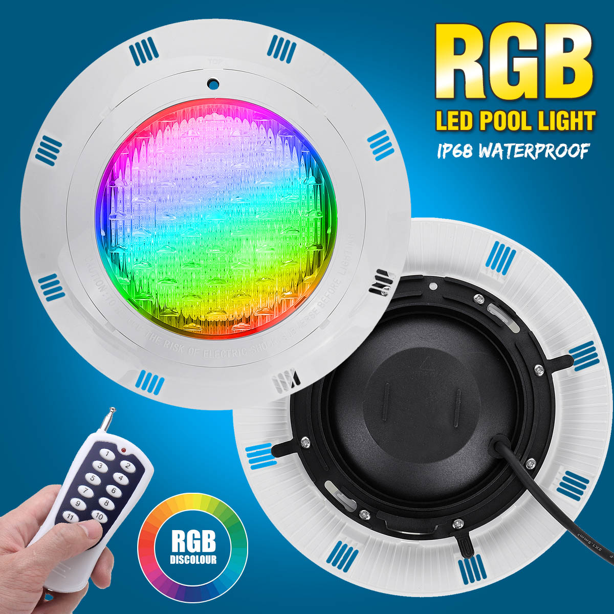 45W Rgb Led Zwembad Licht 450LED IP68 Waterdichte Ac/DC12V-24V Outdoor Rgb Onderwater Licht Vijver Led Piscina luz Spotlight