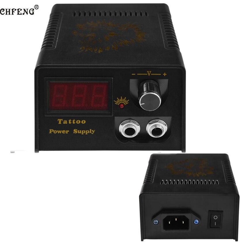 LED Display Tattoo Power Supply Digital Permanent Makeup Footpedal Switch Electric Tattoo Machine Gun Supply Kit Tool Power Cord недорго, оригинальная цена