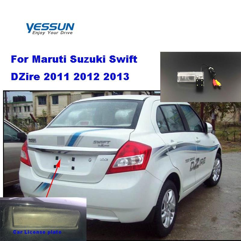 Yessun Car Rear View Reverse Backup Camera Waterproof For Maruti Suzuki Swift DZire 2011~2013 HD CCD Camera Night Vision Camera