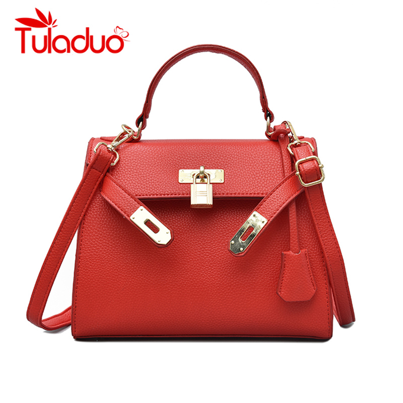 Роскошные сумки женские сумки дизайнерский замок сумки через плечо для дам 2018 известные бренды кожаные сумки-тоут элегантные сумки вечерни...