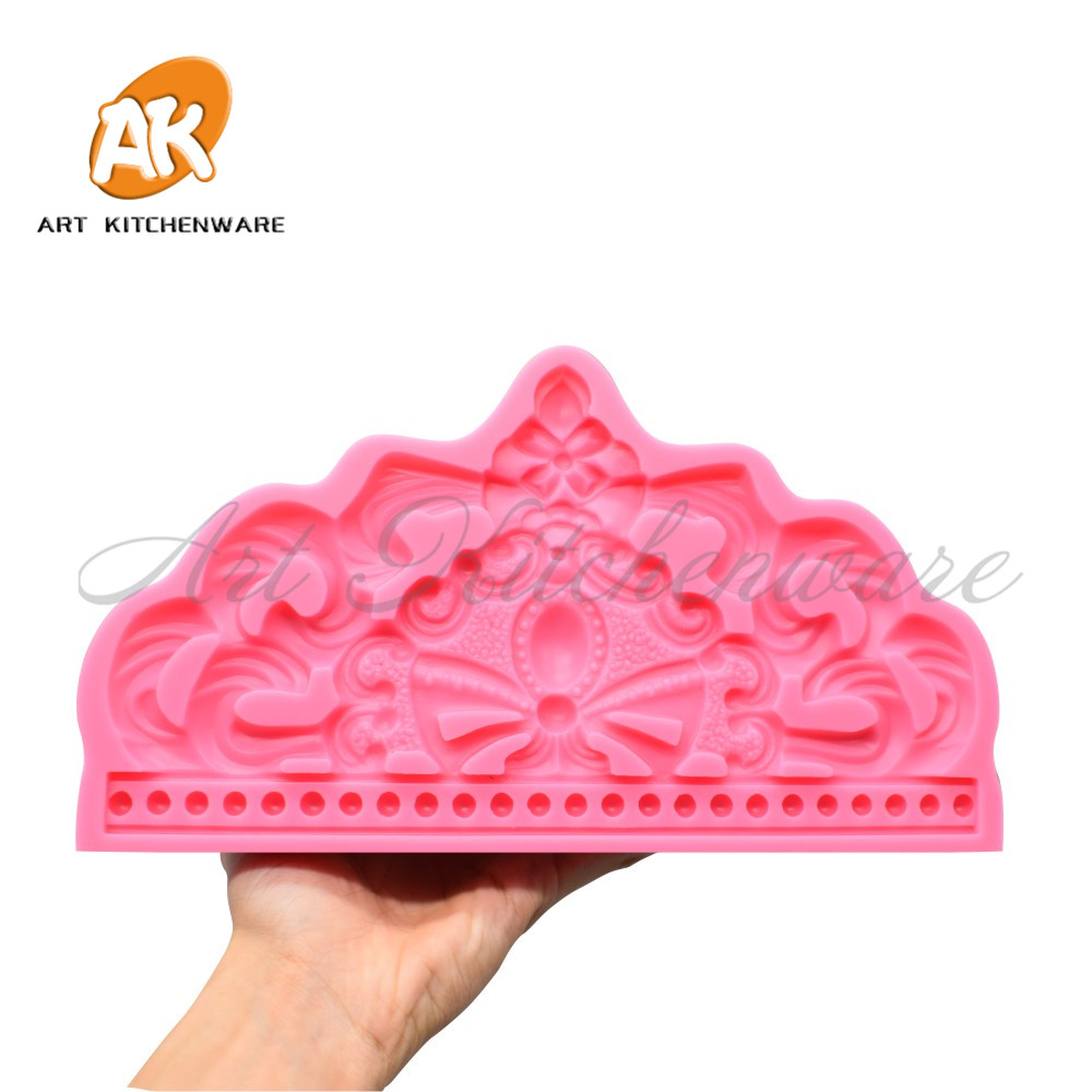 Big Crown Silicone Moulds Graduation Hat Sugarcraft Fondant Bakery Template Food Grade Fondant Cake Chocolate Molds Baking Tool