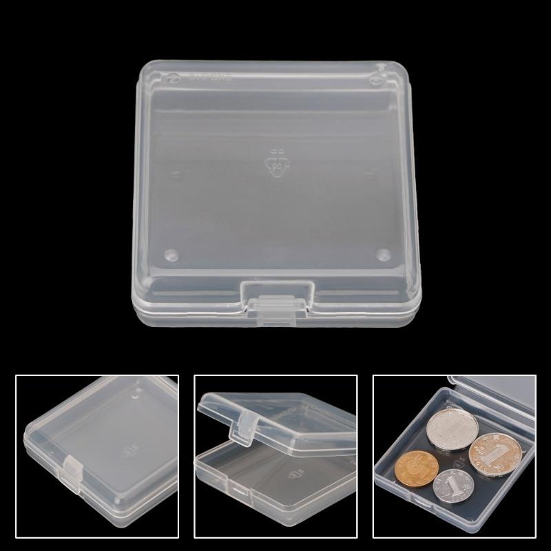 Portable Bank Cards ID Case Holder Transparent Storage Box Chip Beads Case Holder Cajas Organizadoras Jewelry Organizer