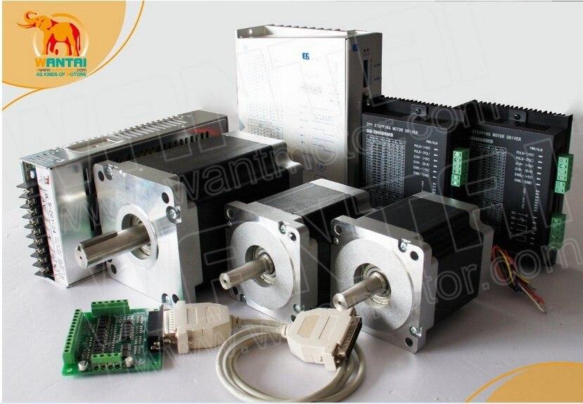 High Quality! CNC Router Wantai 3 Axis CNC 1600oz-in&4200oz-in+ Driver DQ860MA&DQ2722M Controller  Plasma Engraver Kit  european quality jinan acctek high quality 4 axis cnc engraver wood router